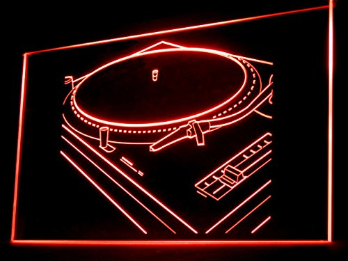 Rap Music Hip Hop Turntable Mixer Led Light Sign