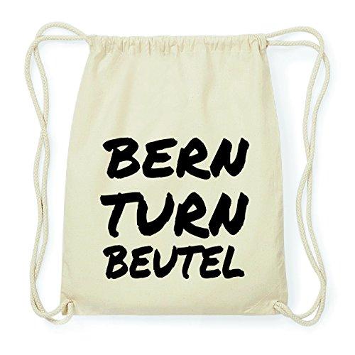 JOllify BERN Hipster Turnbeutel Tasche Rucksack aus Baumwolle - Farbe: natur Design: Turnbeutel leaCdFx