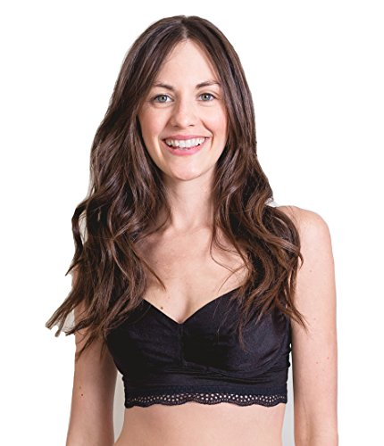 The Dairy Fairy Noa Stretch Satin Underwire Nursing and Pumping Bra Black - Size 1 New (Satin Underwire Stretch)