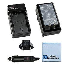 Battery Charger for Nikon EN-EL24 Battery for Nikon 1 J5 Mirrorless Cameras + eCost Microfiber Cloth   MH-31