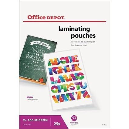 Office Depot - Bolsas para plastificar (200 micras, A2 ...