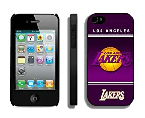 New Top Iphone 4 4s Cover NBA Team Logo L. A. Lakers 02 Sports Element Coolest Popular Custom Made Phone Cases