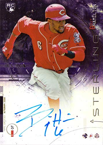 Bowman Sterling Rookie Autograph - 2014 Bowman Sterling Purple Refractor #BSRA-BH Billy Hamilton Certified Autograph Baseball Rookie Card - Only 50 made!