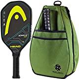 xtreme pickles - Head Xtreme Tour Graphite Black/Yellow Pickleball Paddle Bundled with an Olive Drab 40 Love Courture Pickleball Backpack