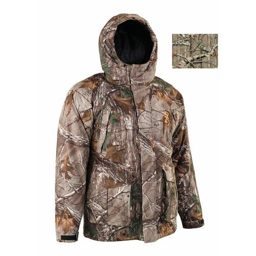 Browning Junior Wasatch Insulated Rain Parka, Mossy Oak Break-Up Infinity, Small