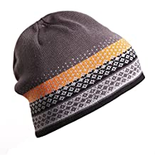 Apparelsales Mens Winter Skiing Snow Stretch Knitting Hat Cap Hearwear