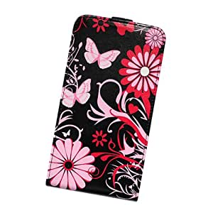 Amazon.com: Fabcov Butterfly Style Flip Leather Cover Case for Samsung