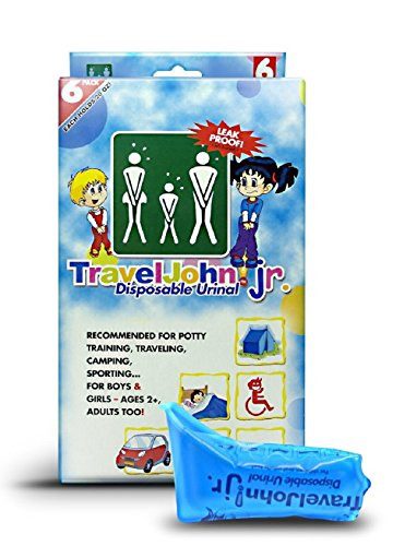 TravelJohn Jr.-Disposable Urinal Bags( 6 -