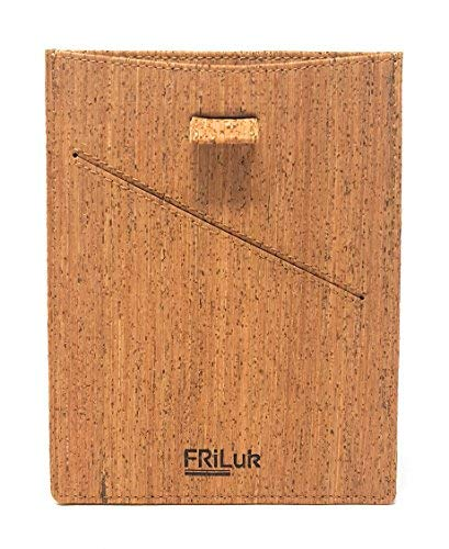 FRiLuk Vegan Leather Travel Wallet Passport Holder (Brown)