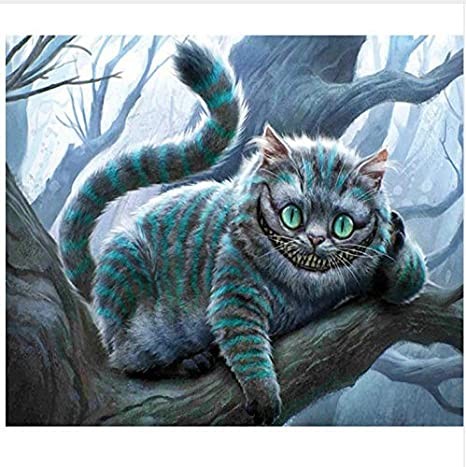 CZYSKY 5D DIY Stealth Cat Diamond Pintura Punto De Cruz Animal Kits De Bordado De Diamantes Mosaico Patrón Imagen Resina Taladro Decoración para El Hogar-30x40cm