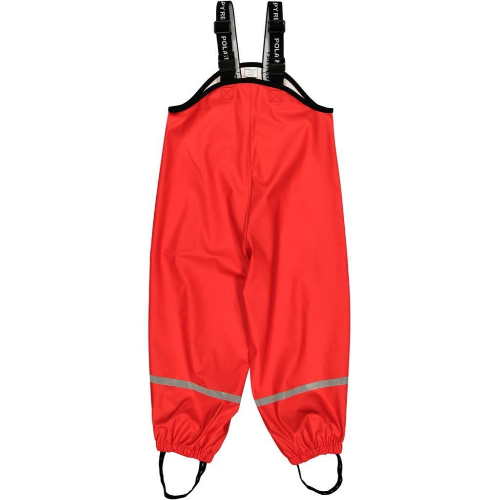 Polarn O. Pyret Waterproof Suspender RAIN Pants (2-6YRS) - Ribbon Red/4-6 Years by Polarn O. Pyret