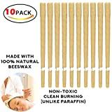 ULTNICE 10Pcs beeswax Candle Healthy Care Natural Wax