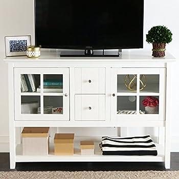 Amazon Home Styles 5543 09 Bermuda TV Stand Brushed White