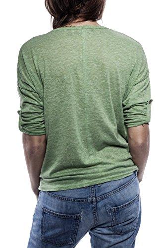 Ella Manue Women Boxy Shirt Camiseta para Mujer Mia Linden Green