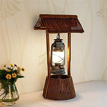 Lámparas de mesa y mesilla de noche rústico artesanal ...