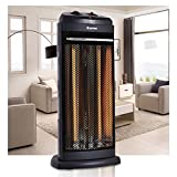 COSTWAY Infrared Electric Quartz Tower Heater Living Room Space Heating Radiant Fire