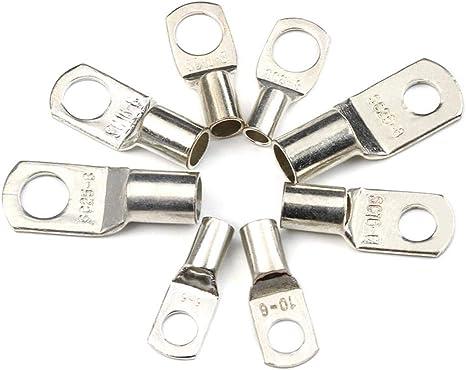 connettori cavi terminali per batteria SC6-6 SC6-8 SC10-6 SC10-6 SC10-8 SC16-6 SC16-8 SC25-6 SC25-8 Set di 60 terminali in rame stagnato con foro per bullone tipo SC anelli
