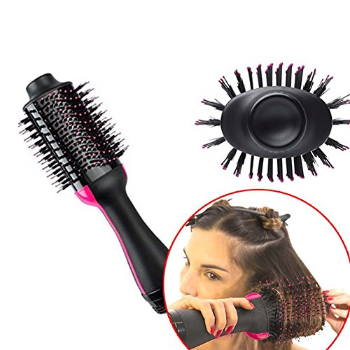 QJHP Hair Straightener Brush Professional Multifunction Ionic Anti-Static Adjustable Temperatures Overheating Protection for Home and Travel by QJHP (Image #3)