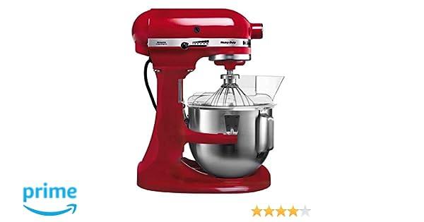 KitchenAid 5KPM5EER - Batidora amasadora, 315 W, 264 x 338 x 411 mm, color rojo: Amazon.es: Hogar