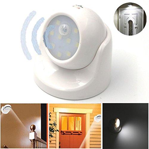 Aluminum Bright Motion Sensor Activated LED Wall Sconce Night Light - 5