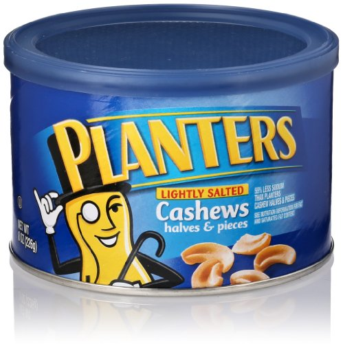 Planters Lightly Salted Cashew Nuts Halves & Pieces, 8 Oz