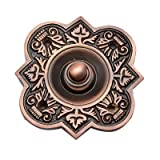 Adonai Hardware Parshandatha Decorative Brass Bell Push or Door Bell or Push Button (Antique Copper)