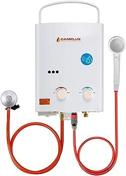 Camplux AY132N 5L calentador de agua portátil de gas, ducha ...