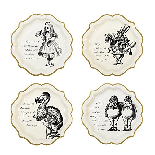 Wedding Plate Invitation (Talking Tables Alice In Wonderland Party Supplies | Paper Plates | Great For Mad Hatter Tea Party, Birthday Party And Baby Shower | 8 Count)