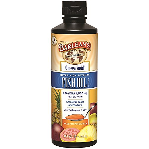 Barlean's Ultra High Potency Omega Swirl Fish Oil, Passion Pineapple, (Omega Kids Swirl)