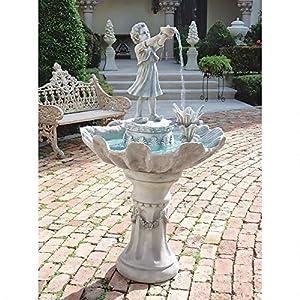 Water Fountain – 5 Foot Tall Portare Acqua Italian-Style Garden Decor Fountain – Outdoor Water Feature