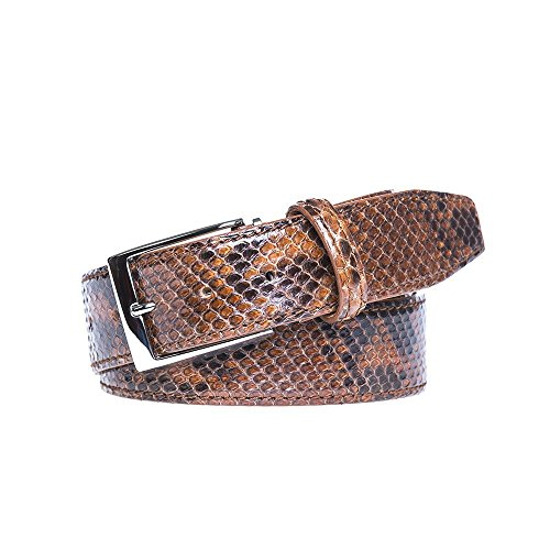Tiger's Eye Python Leather Belt by Roger Ximenez: Bespoke Maker of Fine Leather Goods