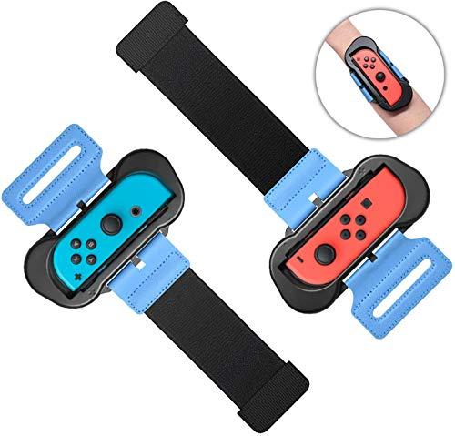 [닌텐도 스위치] Anntec Nintendo Switch Just Dance 대응 저스트 댄스 핸드 스트랩 (2개세트) 사이즈 조절 가능 신축성 스트랩