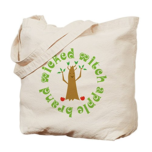[CafePress - Wicked Witch Apples - Natural Canvas Tote Bag, Cloth Shopping Bag] (Haunted Forest Wizard Of Oz)