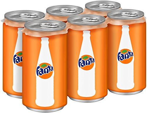 Fanta Orange, 7.5 fl oz, 6 Pack