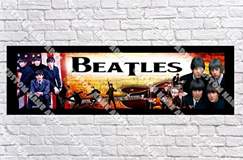 Personalized The Beatles Banner - Includes Color Border Mat, With Your Name On It, Party Door Poster, Room Art Decoration - -