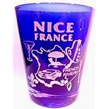 Nice France Cobalt Blue Shot Glass