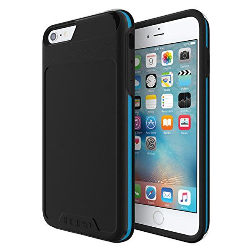 Incipio [Performance] Series Level 4 for iPhone 6 Plus / 6s Plus - Black/Cyan by Incipio