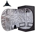 TopoGrow Multiple Sized D-Door 24''X24''X48'' Indoor Grow Tent Room 600D Mylar High Reflective W/Plastic Corners (24''X24''X48'')