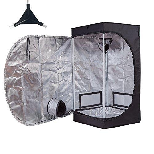 TopoGrow Multiple Sized D-Door 24''X24''X48'' Indoor Grow Tent Room 600D Mylar High Reflective W/Plastic Corners (24''X24''X48'') by TopoGrow
