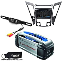 Hyundai Sonata DVD Navigation Upgrade for 2011-2013 with Bluetooth & Backup Camera + Powered Subwoofer