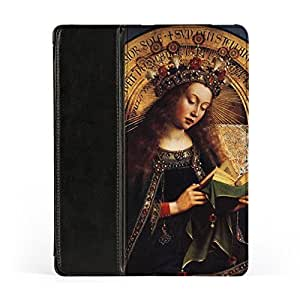 The Ghent Altarpiece - Virgin Mary by Jan van Eyck Premium Faux PU Leather Case, Protective Hard Cover Flip Case for Apple? iPad 2 / 3 and iPad 4 by Painting Masterpieces + FREE Crystal Clear Screen Protector