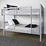 WE Furniture Solid Wood Trundle Bed, Twin, Grey