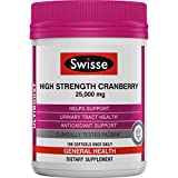 Swisse Ultiboost High Strength Cranberry Capsules - Supports Urinary Tract Health - Antioxidant Rich (100 Tablets)