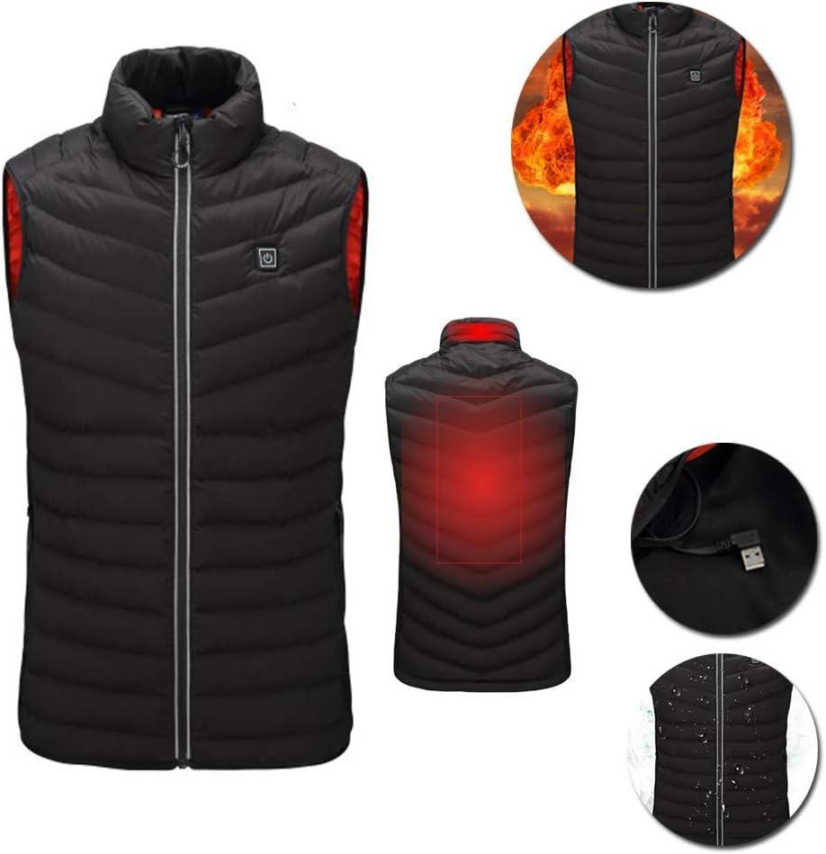 Electric USB Heated Warm Vest Mens Womens Heating Coat Jacket Winter Waistcoat