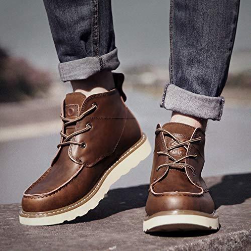 Gfphfm Botas Botas Booties Otoño Martin a Cuero Casual De invierno Wild 43 Zapatos Hombre Herramientas rrxpHn