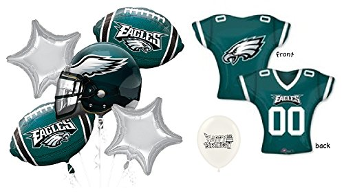 Ballooney's NFC East Philadelphia Eagles 7 piece Balloon Bouquet