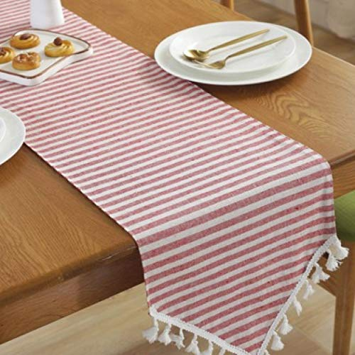 US-ROGEWIN Table Runner Simple Striped Elegant Gorgeous Christmas Wedding Home Decorative Durable Tablecloth -