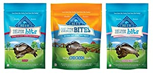 outlet Blue Buffalo Blue Bites And Blue Bits Natural Mini Dog Biscuits 3 Flavor Variety Bundle: (1) Blue Bits Savory Salmon Recipe Training Treats, (1) Blue Bites Tasty Chicken Treats, and (1) Blue Bits Tender Beef Recipe Training T