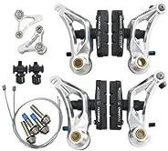 Tektro CR710 Cyclocross Cantilever Brake Set Front & Rear, Silver #ST1461_Si