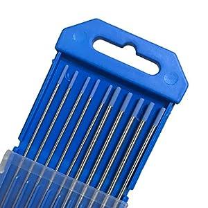 "Tig Welding Tungsten Electrodes, 2% Lanthanated Blue Tungsten Assorted Welding Rods--Blue 5PCS 3/32"" + 5PCS 1/16"" by Zinger Electronics"